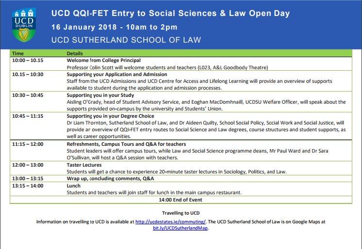 QQI FET Programme 2018